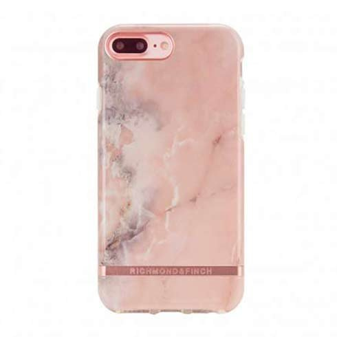 Richmond & Finch kryt Pink Marble pre iPhone 7 Plus/8 Plus - Rose Gold Details