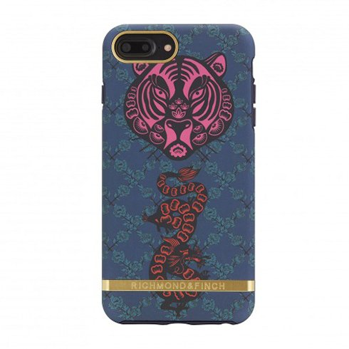 Richmond & Finch kryt Tiger & Dragon pre iPhone 8 Plus/7 Plus - Gold Details