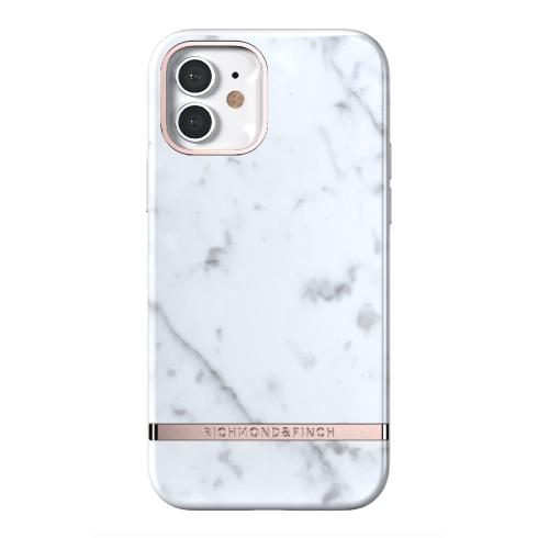 Richmond & Finch kryt White Marble pre iPhone 12/12 Pro - Rose Gold Details