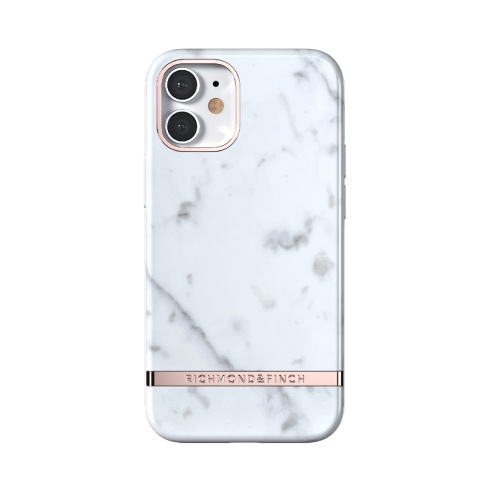 Richmond & Finch kryt White Marble pre iPhone 12 mini - Rose Gold Details