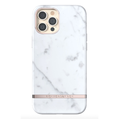 Richmond & Finch kryt White Marble pre iPhone 12 Pro Max - Rose Gold Details