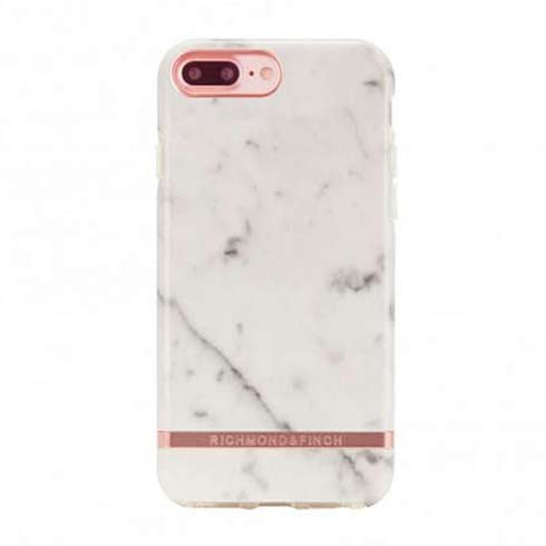 Richmond & Finch kryt White Marble pre iPhone 8 Plus/7 Plus - Rose Gold Details