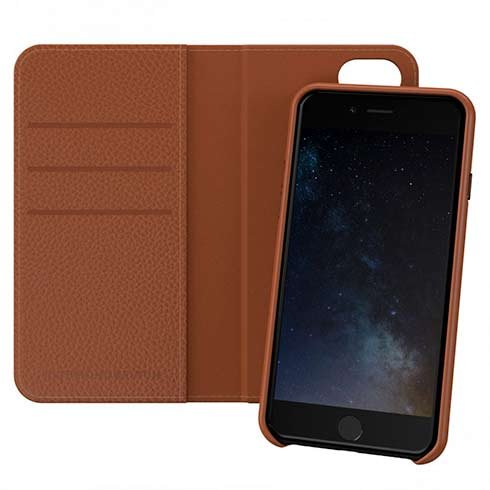 Richmond & Finch puzdro Wallet Case pre iPhone 6/7/8/SE 2020 - Brown