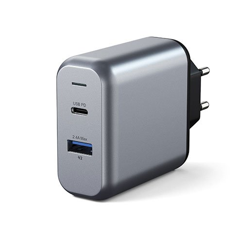 Satechi 30W Dual-Port Wall Charger - Space Gray