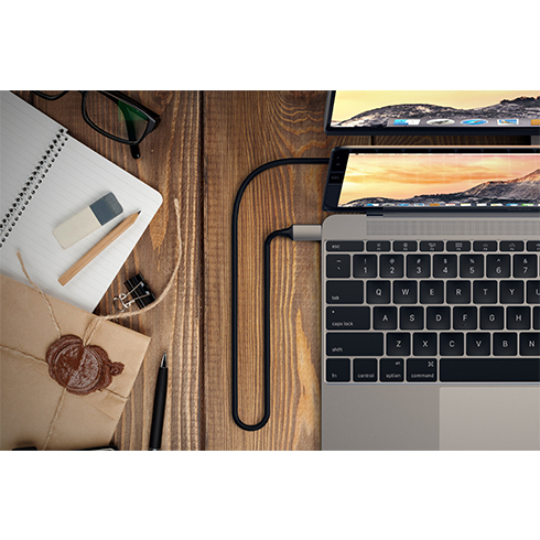 Satechi kábel USB-C to HDMI 2.0 Ultra HD 4K 60Hz, 1.8 m - Space Gray