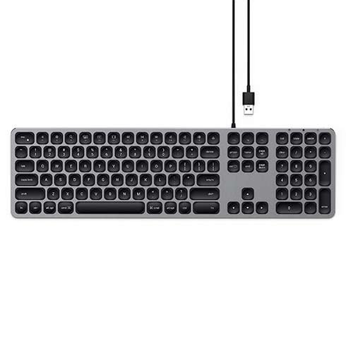 Satechi klávesnica Aluminium Wired USB Keyboard - Space Gray