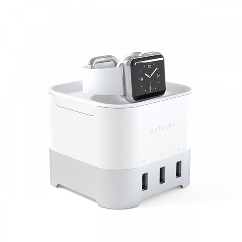 Satechi Smart Watch Charging Stand Silver