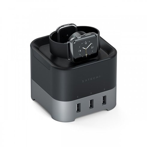 Satechi Smart Watch Charging Stand Space Gray