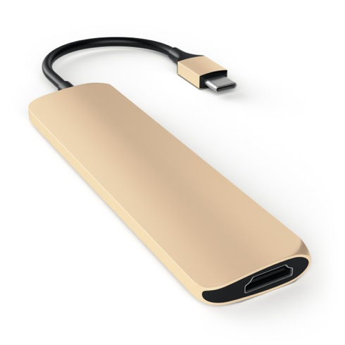 Satechi USB-C Slim Multiport adaptér - Gold Aluminium