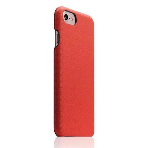 SLG Design kryt D+ Italian Carbon Leather pre iPhone 7/8/SE 2020 - Red