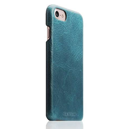 SLG Design kryt D7 Italian Wax Leather pre iPhone 7/8/SE 2020 - Blue