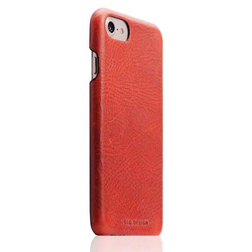 SLG Design kryt D7 Italian Wax Leather pre iPhone 7/8/SE 2020 - Red