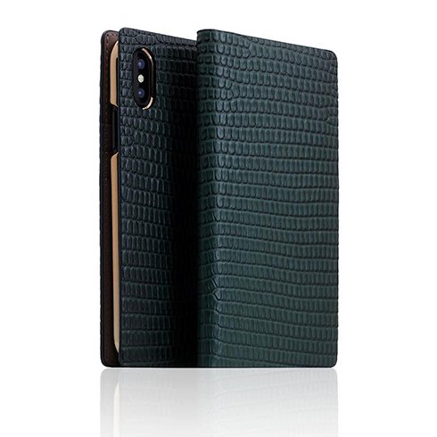 SLG Design puzdro D3 Lizard Leather pre iPhone X/XS - Green
