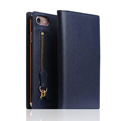 SLG Design puzdro D5 CSL Zipper Case pre iPhone 8/7 - Navy