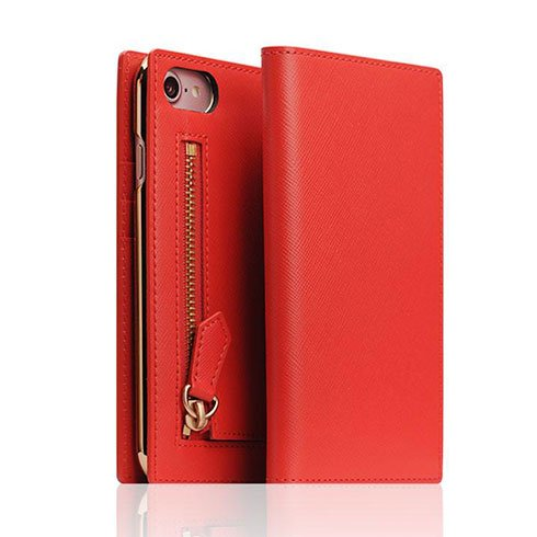 SLG Design puzdro D5 CSL Zipper Case pre iPhone 8/7 - Red