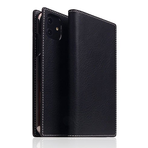 SLG Design puzdro D6 Italian Minerva Box Leather pre iPhone 11 - Black