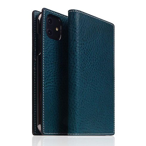SLG Design puzdro D6 Italian Minerva Box Leather pre iPhone 11 - Blue