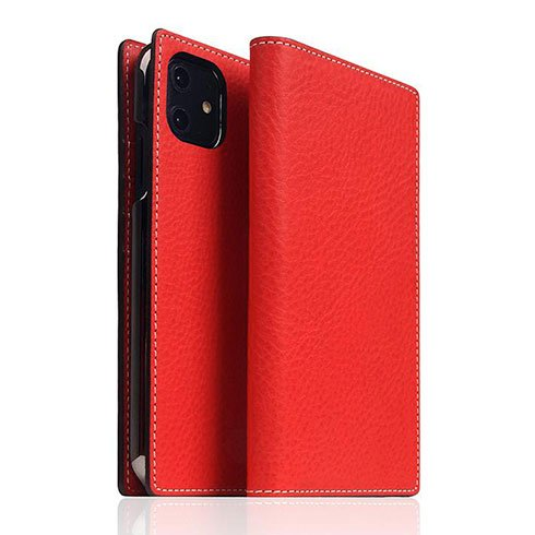 SLG Design puzdro D6 Italian Minerva Box Leather pre iPhone 11 - Red