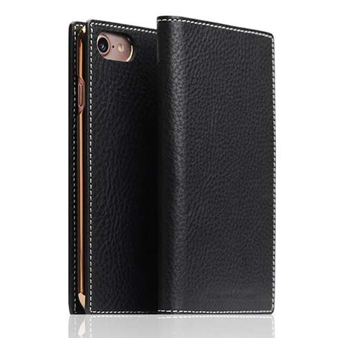 SLG Design puzdro D6 Italian Minerva Leather pre iPhone 7/8/SE 2020 - Black