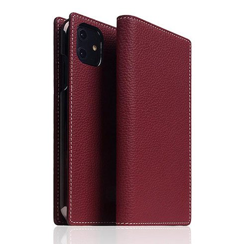 SLG Design puzdro D8 Full Grain Leather pre iPhone 11 - Burgundy