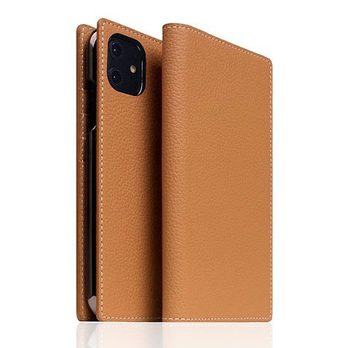 SLG Design puzdro D8 Full Grain Leather pre iPhone 11 - Caramel Cream