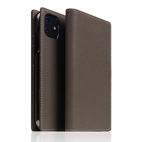 SLG Design puzdro D8 Full Grain Leather pre iPhone 11 - Etoff Cream