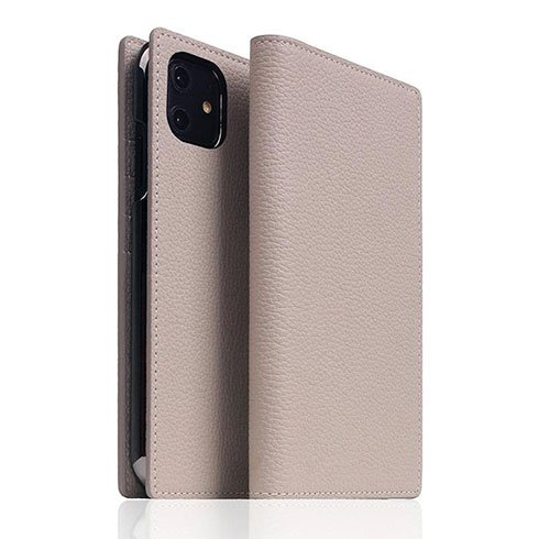 SLG Design puzdro D8 Full Grain Leather pre iPhone 11 - Light Cream