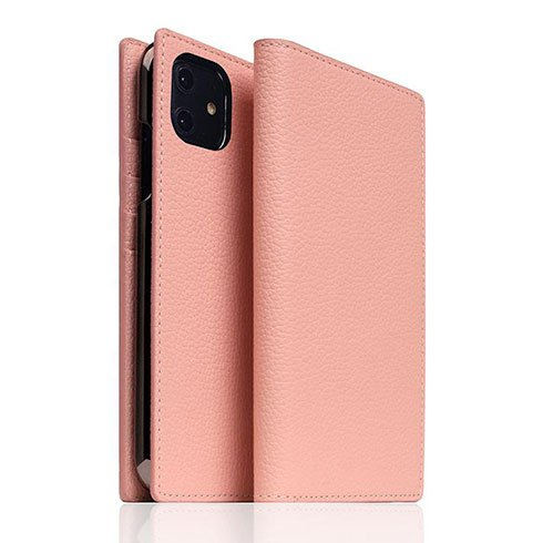 SLG Design puzdro D8 Full Grain Leather pre iPhone 11 - Light Rose