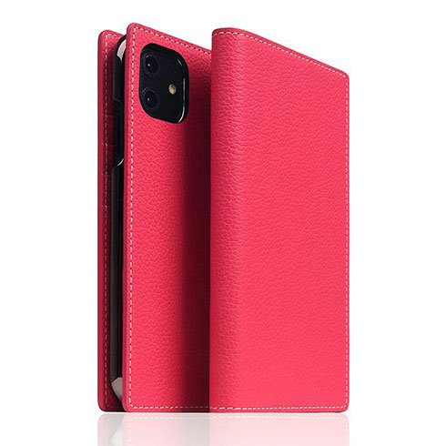 SLG Design puzdro D8 Full Grain Leather pre iPhone 11 - Pink Rose