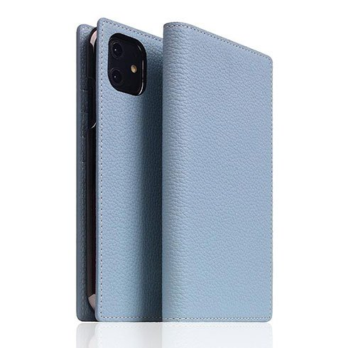 SLG Design puzdro D8 Full Grain Leather pre iPhone 11 - Powder Blue