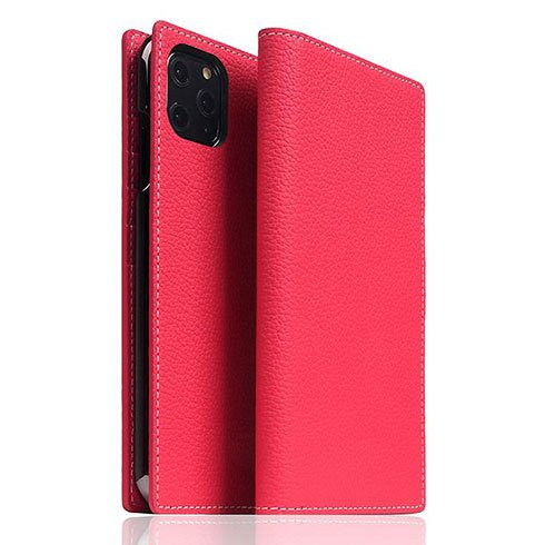 SLG Design puzdro D8 Full Grain Leather pre iPhone 11 Pro Max - Pink Rose
