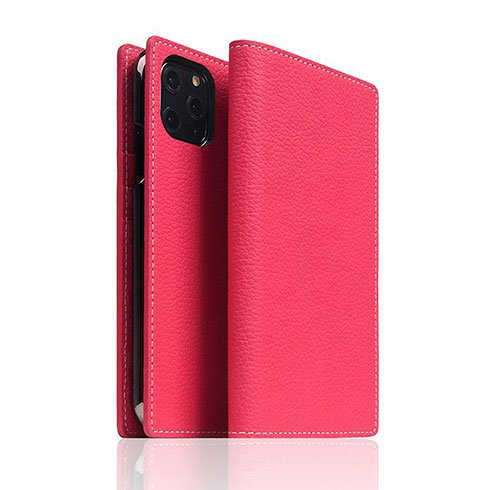 SLG Design puzdro D8 Full Grain Leather pre iPhone 11 Pro - Pink Rose
