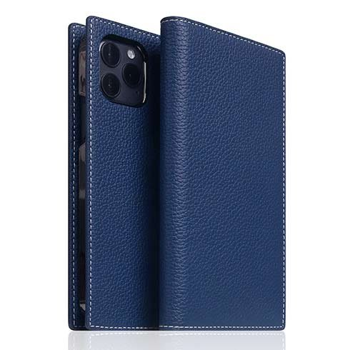 SLG Design puzdro D8 Full Grain Leather pre iPhone 12 Pro Max - Navy Blue
