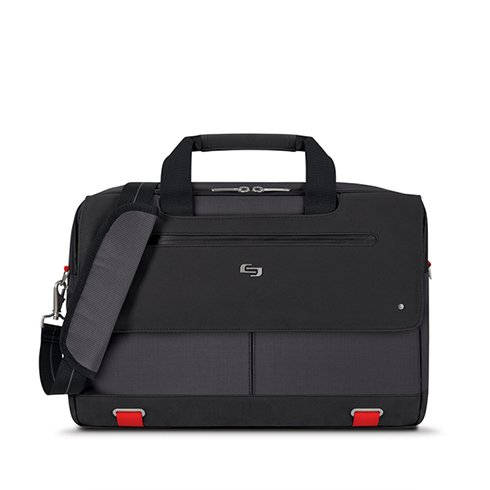 "Solo taška Mission Briefcase 15.6"" - Black/Red"