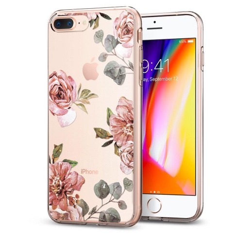 Spigen kryt Liquid Crystal Aquarelle pre iPhone 7 Plus/8 Plus - Rose