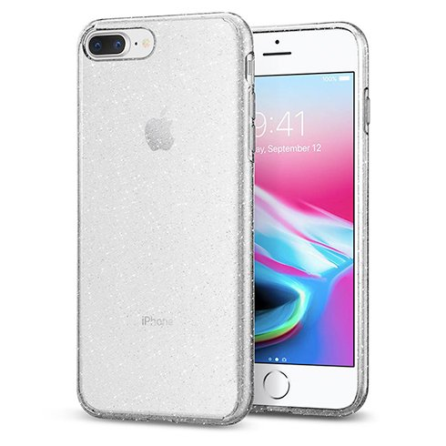 Spigen kryt Liquid Crystal Glitter pre iPhone 7 Plus/8 Plus - Crystal Quartz