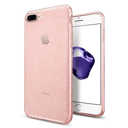 Spigen kryt Liquid Crystal Glitter pre iPhone 7 Plus/8 Plus - Rose Quartz