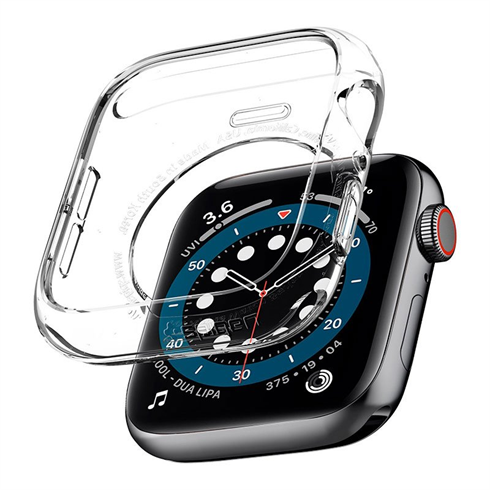 Spigen kryt Liquid Crystal pre Apple Watch 4/5/6/SE 40mm - Crystal Clear