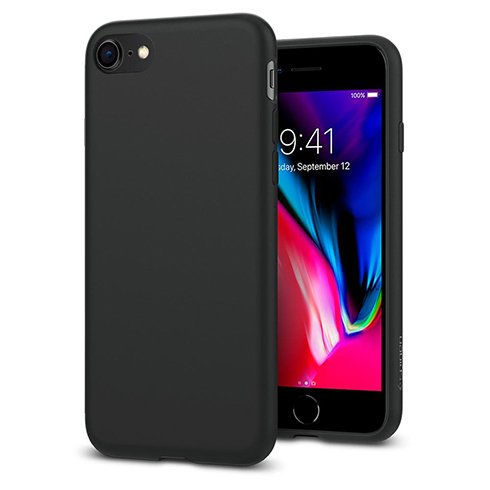 Spigen kryt Liquid Crystal pre iPhone 8/SE 2020 - Matte Black