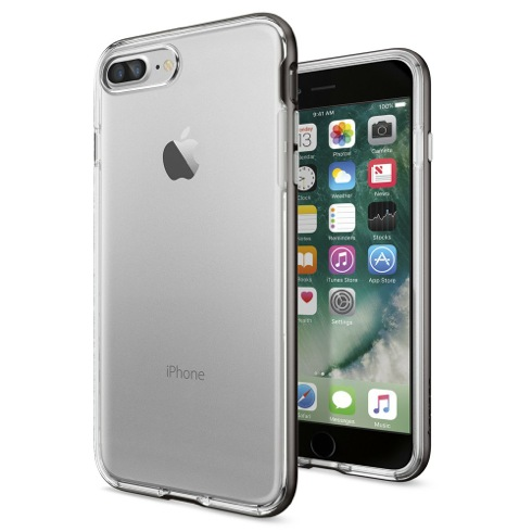Spigen kryt Neo Hybrid Crystal pre iPhone 7 Plus - Gunmetal