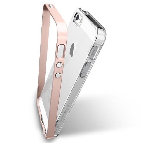 Spigen kryt Neo Hybrid Crystal pre iPhone SE - Rose Gold  b7259b0d797