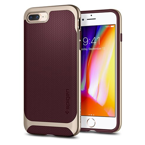 Spigen kryt Neo Hybrid Herringbone pre iPhone 8 Plus - Burgundy