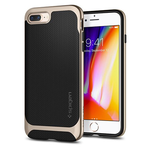 Spigen kryt Neo Hybrid Herringbone pre iPhone 8 Plus - Gold