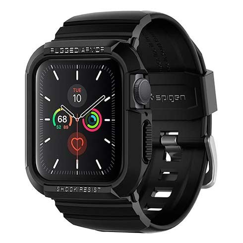 Spigen kryt Rugged Armor Pro pre Apple Watch 4/5 40mm - Black