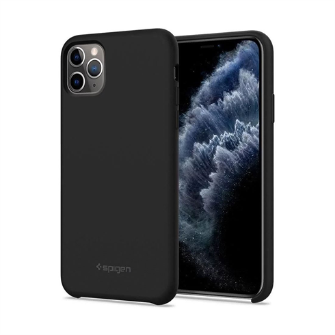 Spigen kryt Silicone Fit pre iPhone 11 Pro - Black