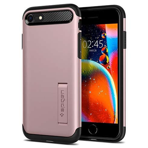 Spigen kryt Slim Armor pre iPhone SE 2020 - Rose Gold