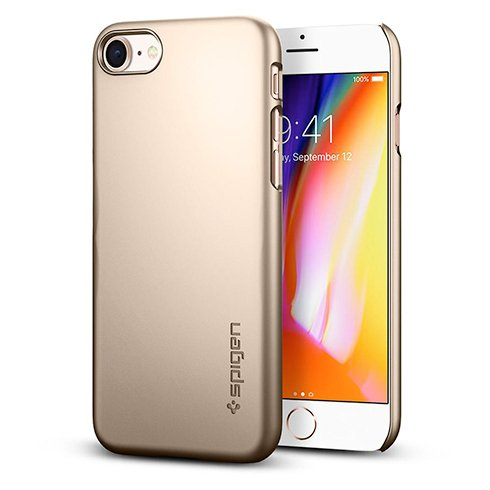 Spigen kryt Thin Fit pre iPhone 8 - Gold
