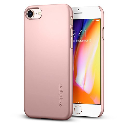 Spigen kryt Thin Fit pre iPhone 8 - Rose Gold