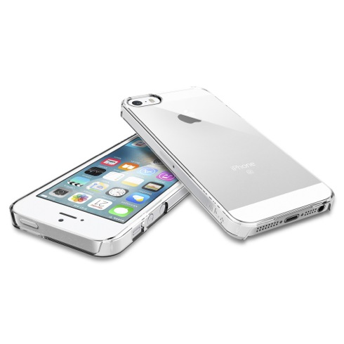 Spigen kryt Thin Fit pre iPhone SE/5s/5 - Crystal Clear