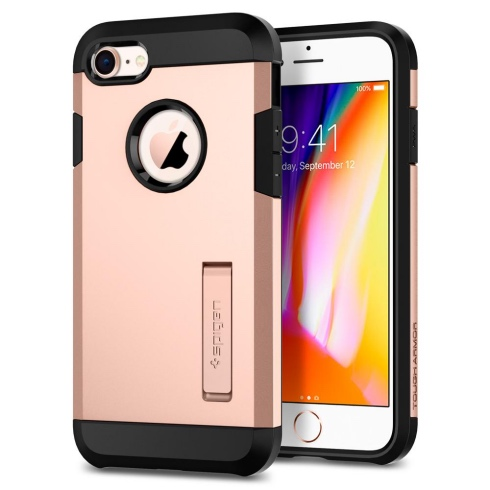 Spigen kryt Tough Armor 2 pre iPhone 8  - Blush Gold